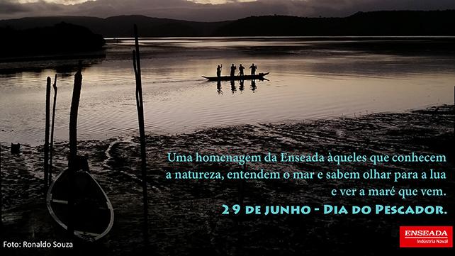 Arte da Enseada para o Dia do Pescador - post